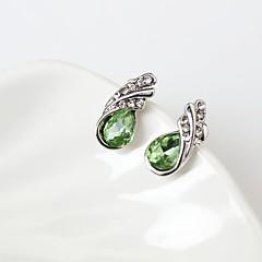 tanie Biżuteria damska-Kolczyki na sztyft Modny Kryształ górski Stop Łezki Silver Purple Fuchsia Green Niebieski Biżuteria Na Codzienny 1 para