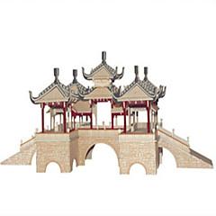 DHZ-kit Bouwblokken 3D-puzzels Educatief speelgoed Legpuzzel Houten puzzels Speeltjes Vierkant Kasteel Beroemd gebouw Chinese