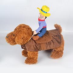 voordelige Hondenkleding & -accessoires-Kat Hond kostuums Hondenkleding Schattig Cosplay Cowboy Modieus Jeans Regenboog Kostuum Voor huisdieren