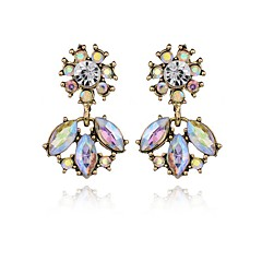 Women's Drop Earrings Crystal Geometric Costume Jewelry Crystal Alloy Geometric Jewelry For Party Daily Casual