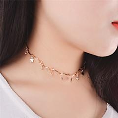 preiswerte Halsketten-Damen Halsketten / Anhängerketten / Anhänger  -  Krystall Stern Personalisiert, Anhänger Stil, Quaste Gold, Silber Modische Halsketten Für Weihnachts Geschenke, Party, Besondere Anlässe