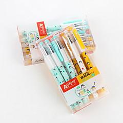 preiswerte Zubehör zum Zeichnen und Schreiben-Gel Stift Stift Gelstifte Stift,Plastik Fass Blau Tintenfarben For Schulzubehör Bürobedarf Packung