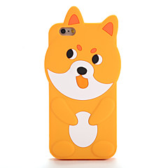 Недорогие Кейсы для iPhone 7 Plus-Кейс для Назначение Apple iPhone 7 / iPhone 7 Plus С узором Кейс на заднюю панель 3D в мультяшном стиле Мягкий Силикон для iPhone 7 Plus / iPhone 7 / iPhone 6s Plus
