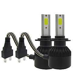 Txvso8 2xh7 100w 12000lm iluminare auto 12v set de conversie cip chips-uri bec de ceață auto 6000k alb automotives far de h7 faruri led