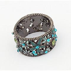 Herre Dame Båndringe Ring Syntetisk Diamant Enkelt design Unikt design Logo Blomster Venskab Sød Stil Euro-Amerikansk Gør Det Selv