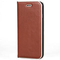 Недорогие Кейсы для iPhone 5-Для iphone 7 7 плюс держатель карточки крышки случая флип магнитный полный случай тела твердый цвет твердый кожа pu для iphone 6s 6 плюс
