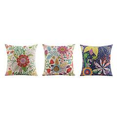 tanie Poduszki-3 szt Bielizna Poszewka na poduszkę Poduszka na łóżko Poduszka Body Pillow Poduszka turystyczna sofa Poduszka,Kwiatowy Wzory graficzne