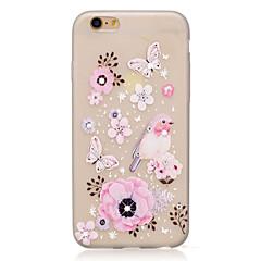 Недорогие Кейсы для iPhone 6-Кейс для Назначение Apple iPhone 7 / iPhone 7 Plus Стразы / Сияние в темноте / IMD Кейс на заднюю панель Бабочка / Животное / Цветы Мягкий ТПУ для iPhone 7 Plus / iPhone 7 / iPhone 6s Plus
