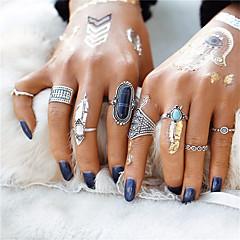 お買い得  指輪-女性用 指輪  -  ターコイズ 王女, フラワー 幾何学図形, ユニーク, クラシック ワンサイズ ゴールド / ブラック / Brown 用途 結婚式 パーティー 記念日