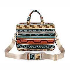 """preiswerte Laptop Taschen-Segeltuch Bohemian Stil Grid /-Plaid-Muster Geometrische Muster Handtaschen Umhängetasche 15 """"Laptop"""