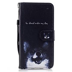 Na Etui na karty Portfel Z podpórką Flip Wzór Kılıf Futerał Kılıf Pies Twarde Skóra PU na HuaweiHuawei P9 Lite Huawei P8 Lite (2017)