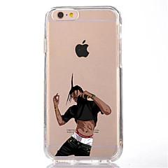 Недорогие Кейсы для iPhone 7-Кейс для Назначение Apple iPhone 7 Plus iPhone 7 Прозрачный С узором Кейс на заднюю панель Мультипликация Мягкий ТПУ для iPhone 7 Plus