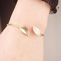 preiswerte Armbänder-Damen Manschetten-Armbänder - Blattform Modisch Armbänder Gold Für Besondere Anlässe / Verlobung
