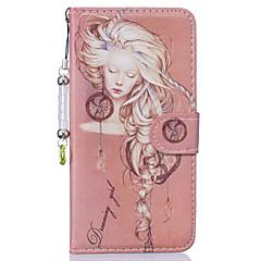 Для Чехлы панели Кошелек Бумажник для карт со стендом Флип Чехол Кейс для Соблазнительная девушка Твердый Искусственная кожа для Apple