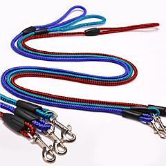 저렴한 -개 가죽 끈 슬립 리드 조절 가능 / 개폐식 빨간색 파란색 진한 녹색