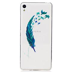 olcso -Mert IMD Átlátszó Minta Case Hátlap Case Toll Puha TPU mert Sony Sony Xperia XA Sony Xperia M2
