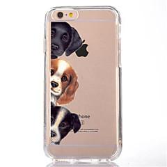 お買い得  iPhone 5S/SE ケース-ケース 用途 Apple iPhone X / iPhone 8 クリア / パターン バックカバー 犬 ソフト TPU のために iPhone X / iPhone 8 Plus / iPhone 8