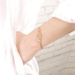 Жен. Браслет разомкнутое кольцо Бижутерия Мода Медь Золотой Бижутерия Для Для вечеринок Особые случаи 1шт