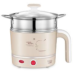多機能電気食器洗い皿ステンレス家庭用電気加熱鍋電気蒸し器ミニ電気鍋屋寮料理麺