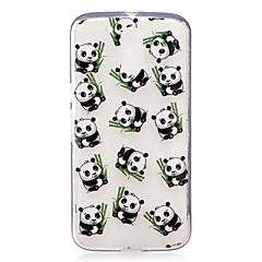 For Motorola Moto G4 Play G4 Plus Case Cover Panda Pattern Painted High Penetration TPU Material IMD Process Soft Case Phone Case