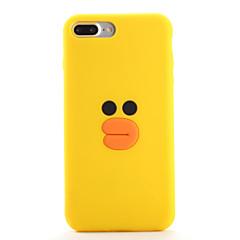 Недорогие Кейсы для iPhone 6 Plus-Кейс для Назначение Apple iPhone 7 / iPhone 7 Plus С узором Кейс на заднюю панель 3D в мультяшном стиле Мягкий Силикон для iPhone 7 Plus / iPhone 7 / iPhone 6s Plus