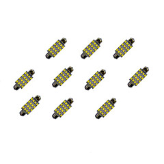 baratos -10pcs 42mm 16 * 2835 smd conduziu a luz branca da ampola do carro dc12v