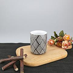 Minimalizm Parti Bardak Takımı, 175 ml Basit Geometrik Desen Yeniden kullanılabilir Porselen Çay ÇıplakGünlük Bardaklar Çay Fincanları