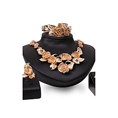 お買い得  ジュエリーセット-女性用 ジュエリーセット  -  ゴールドメッキ フラワー オリジナル, ヴィンテージ, ファッション 含める ゴールド 用途 結婚式 / パーティー / おめでとう / リング / ブレスレット