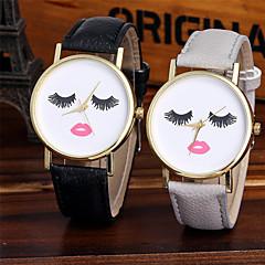 voordelige Bekijk deals-Dames Kwarts Polshorloge Chinees Cool Leer Band Glitter / Informeel / Modieus Zwart / Wit / Bruin / Groen / Grijs