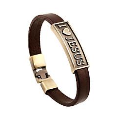 abordables Bijoux pour Femme-Homme Femme Bracelets en cuir - Cuir Rétro, Amitié Bracelet Marron Pour Anniversaire Cadeau Valentin