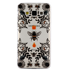 voordelige Galaxy A5 Hoesjes / covers-hoesje Voor Samsung Galaxy A5(2017) A3(2017) Transparant Patroon Reliëfopdruk Achterkant Bloem dier Zacht TPU voor A3 (2017) A5 (2017) A5