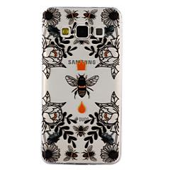 voordelige Galaxy A3 Hoesjes / covers-hoesje Voor Samsung Galaxy A5(2017) A3(2017) Transparant Reliëfopdruk Patroon Achterkantje dier Bloem Zacht TPU voor A3 (2017) A5 (2017)