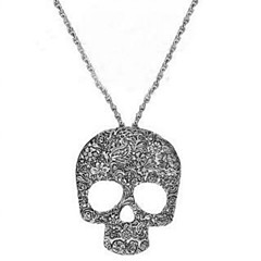 Муж. Жен. Ожерелья с подвесками Ожерелья-цепочки Бижутерия В форме черепа СплавБазовый дизайн Уникальный дизайн В виде подвески Стразы