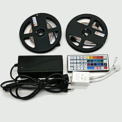 お買い得  LED ストリングライト-ZDM® 2x5M 10m ライトセット 2*300 LED 1 12V 6Aアダプタ 1 44キーリモコン RGB カット可能 ノンテープ・タイプ 装飾用 12V 1セット