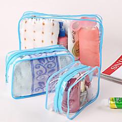 حقيبة أدوات تجميل للسفر منظم أغراض السفر حقيبة أدوات تجميل مقاوم للماء مكتشف الغبار قابلة للطى تخزين السفر مرطب يدين سميك إلى ملابس جلد