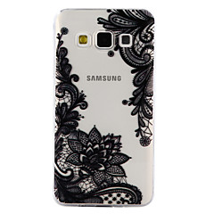 olcso Galaxy A3 tokok-Case Kompatibilitás Samsung Galaxy A5(2017) A3(2017) Átlátszó Minta Dombornyomott Fekete tok csipke nyomtatás Puha TPU mert A3 (2017) A5