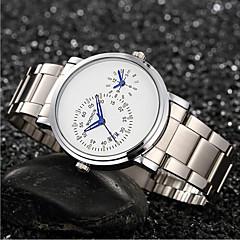 お買い得  メンズ腕時計-男性用 ファッションウォッチ クォーツ 合金 バンド ハンズ ブラック / シルバー - ブラック ブラック / シルバー ホワイト / シルバー