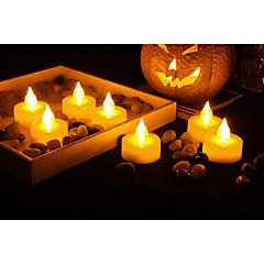preiswerte Ausgefallene LED-Beleuchtung-Set von 12 premium flammenlose Teelichter mit Timer batteriebetriebene Kerzen lange Akkulaufzeit Batterie enthalten.