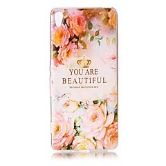 Для Чехлы панели Прозрачный Рельефный С узором Задняя крышка Кейс для Слова / выражения Цветы Мягкий TPU для SonySony Xperia XZ Premium