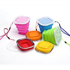 Bögre / csésze Összecsukható Ivóeszközök és evőeszközök utazásokra mert Összecsukható Ivóeszközök és evőeszközök utazásokraSárga Piros