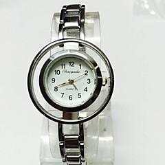 Women's Ladies' Skeleton Watch Wrist watch Bracelet Watch Chinese Quartz Alloy Band Sparkle Charm Casual Silver