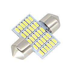 Недорогие Освещение салона авто-SO.K 2pcs 31mm Автомобиль Лампы 3 W SMD 3014 300 lm Светодиодная лампа Внутреннее освещение