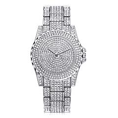 preiswerte Armbanduhren für Paare-Paar Armbanduhr Kreativ Edelstahl Band Charme / Luxus / Elegant Silber / Gold / Rotgold
