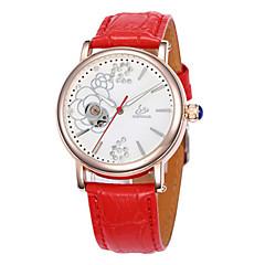 preiswerte Damenuhren-Damen Mechanische Uhr Quartz 30 m Schlussverkauf Leder Band Analog Charme Modisch Weiß / Rot / Lila - Weiß Purpur Rot