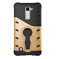 voordelige Hoesjes / covers voor LG-Voor lg k10 k8 case cover 360 graden rotatie armor combo drop armor telefoon hoesje k7 v20 g6 x power x stijl