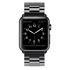 Zegarek na zegarek jabłkowy 38mm 42mm stal nierdzewna zamiennik bransoletka klamra motyl