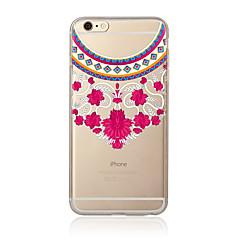 Недорогие Кейсы для iPhone 7 Plus-Кейс для Назначение Apple iPhone 7 Plus iPhone 7 Прозрачный С узором Кейс на заднюю панель Кружева Печать Мягкий ТПУ для iPhone 7 Plus