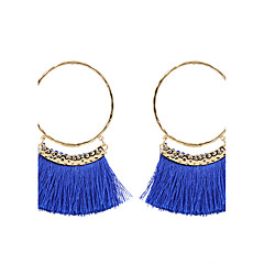 preiswerte Ohrringe-Damen Quaste Tropfen-Ohrringe - Personalisiert, Quaste, Modisch Grau / Rot / Dunkelrot Für Hochzeit Jahrestag Einweihungsparty