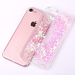 billige iPhone-etuier-Etui Til Apple iPhone X iPhone 8 iPhone 8 Plus iPhone 5 etui Flydende væske Transparent Bagcover Glitterskin Hårdt PC for iPhone X iPhone