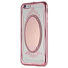 Недорогие Кейсы для iPhone 6 Plus-Кейс для Назначение Apple iPhone 7 Plus iPhone 7 Зеркальная поверхность С узором Кейс на заднюю панель Сияние и блеск Кружева Печать
